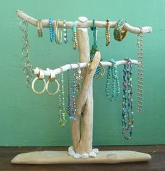 Driftwood Jewelry Stand,  Reclaimed Wood Jewelry Holder, Necklaces Bracelets Display, Beach House Decor, Jewelry Boutique, Art Show Display,