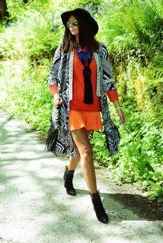 Festival Style #coachella #kimono #fashion #ejstyle #emmahill