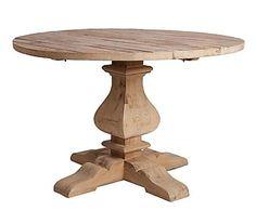 Mesa de comedor redonda de madera de pino, natural - Ø120 cm