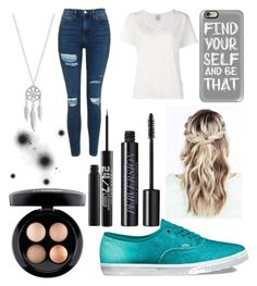 """""""Hey"""" by eminemily01 on Polyvore featuring Urban Decay, MAC Cosmetics, Vans, Casetify, Topshop, Visvim and Lucky Brand"""