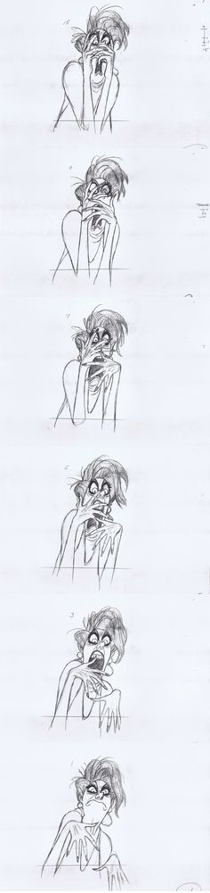Milt Kahl - Medusa Rough Animation - The Rescuers..... One of the best! Character Design Animation, Character Sketches, Character Illustration, Character Design References, Character Art, Illustration Art, Disney Sketches, Disney Drawings, Animation Film