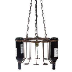 Wine bottle chandelier kalajweller