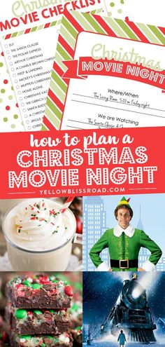 How to plan a Christmas Movie night with free printables, tips and ideas! Plus a list of the 45 BEST Christmas Movies!