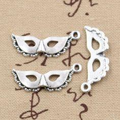 20pcs Charms party mask masquerade mardi gra 31*12mm Antique charms pendant fit,Vintage Tibetan Silver,DIY for bracelet necklace
