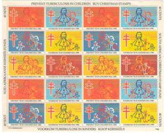 SOUTH AFRICAN CHRISTMAS STAMPS 1981 FULL SHEET UMM