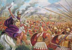 Pyrrhus of Epirus battles the Romans at Heraclea.