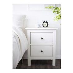 IKEA - ХЕМНЭС, Комод с 2 ящиками, белая морилка, , Массив дерева – прочный натуральный материал.Дополнительный ящик внутри для хранения различных мелочей.Чтобы ящики не выпадали при открывании, они оснащены специальным стопором.Также можно использовать как прикроватный столик.