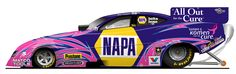 Driver Ron Capps and Don Schumacher Racing are joining the cause of breast cancer awareness by running a distinctive Susan G. Komen for the Cure® body ...