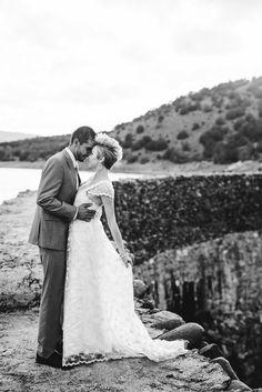 alternative wedding photographer || destination wedding || utah desert formal session || first look|| mohawk bride || tattooed bride || scenic || mountains || black and white || Sugar Rush Photo + Video www.sugarrushphoto.com