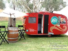 Vintage Photobooths 'Festival Photobooth' in the guise of our 1958 Franklin Caravan. www.photobooth.net.au