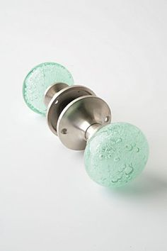 bubble glass doorknob - this could be the perfect accent