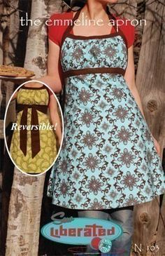 Emmeline Apron Pattern Free | The Emmeline Apron, sewing pattern, free shipping with any fabric ...
