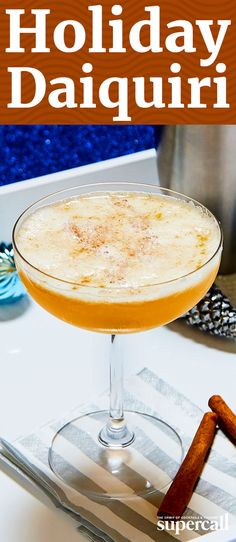 The perfect pairing for rich and heavy holiday foods, this variation on the classic Daiquiri is tart and bright with an undercurrent of winter spice. Made with pimento dram (a Caribbean liqueur infused with allspice berries), both spiced and white rums, and a robust demerara syrup, it's dangerously chuggable.