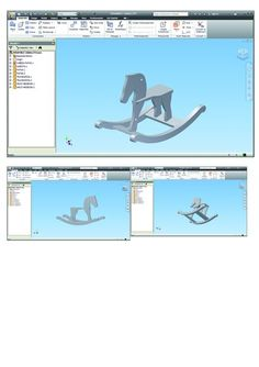 Build a Wooden Horse: 15 Steps (with Pictures) Rocking Horse Plans, Bike Challenge, Autodesk Inventor, Wendy House, Barn Wood Projects, Horse Pattern, Wooden Horse, Model Pictures, Woodworking Plans