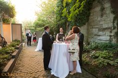 There's an intimacy to the Chase Court garden that always feels good and immediately sets guests at ease. wedding-reception-in-baltimore