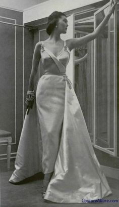Dior evening gown, 1950.                                                                                                                                                                                 More
