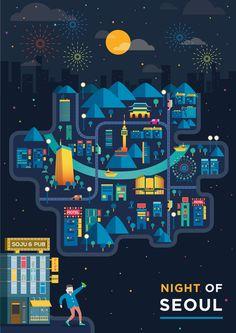night of Seoul - ZUNO - motiongraphic designer