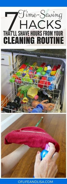 I NEED THESE HACKS IN MY LIFE BECAUSE CLEANING TAKES UP SO MUCH TIME. CAN'T WAIT TO TRY THESE OUT! REPIN FOR LATER! #home #house #cleaning #declutter #tidy #mom #momlife