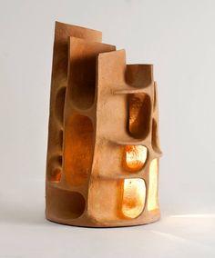 Guy Bareff, Illuminated Sculpture, France, 2014 Illuminated Sculpture by Guy Bareff image 2 Pottery Sculpture, Sculpture Clay, Ceramic Design, Ceramic Art, Ceramic Lamps, Ceramic Light, Ceramic Lantern, Pottery Techniques, Modern Ceramics