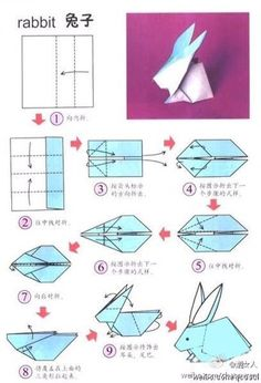 origami hase anleitung osterdeko ideen The Effective Pictures We Offer You About DIY origami bunny A Bunny Origami, Instruções Origami, Origami Yoda, Origami Star Box, Origami Folding, Paper Crafts Origami, Paper Folding, Origami Flowers, Simple Origami