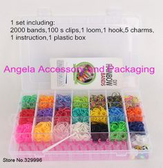 100 S-CLIPS USA SHIPPING for Rainbow Loom RUBBER BANDS 2400 SILVER