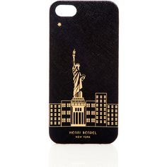 Henri Bendel New York Skyline Case For Iphone 5/5s ($24) ❤ liked on Polyvore featuring accessories, tech accessories, phone cases, phone, cases, iphone, black, iphone cover case, iphone case and apple iphone cases