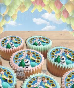 Frozen Fever Edible Image Cake Topper Sunflowers [CUPCAKES]