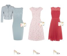 How to wear, floral trend shoes - one pair 6 outfits, what to wear to a wedding or summer occasion