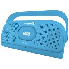 Pyle Surf Sound Waterproof Wireless Bluetooth Stereo Speaker (Blue)