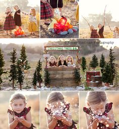 Christmas Mini Session. Photo Session Ideas | Props | Prop | Siblings | Brothers |  Sisters | Family | Holiday Card Idea | Pose Ideas