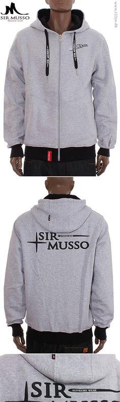 SIR MUSSO hættetrøje med lynlås