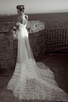zoog wedding dress 2013 off shoulder guipure lace straps sleeves wedding dress back train net