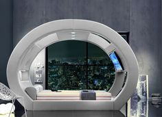 These Futuristic Beds Provide a Cozy Space to Watch Movies & Jam Out #luxury trendhunter.com