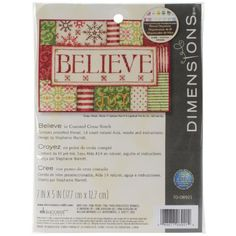 Dimensions Crafts Needlecrafts Counted Cross Stitch Kit, Believe Dimensions Crafts http://www.amazon.com/dp/B00JNIP62C/ref=cm_sw_r_pi_dp_52N.tb0285XBB