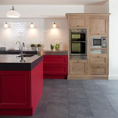 Fresh and Modern Red Kitchen