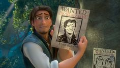 The Many Faces of Flynn Rider ... The nose knows ... anything worse than a drawing of your nose on a Wanted Poster?