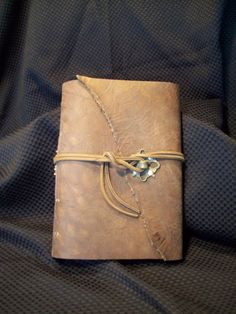 "Rugged Leather Bound Verdigris Garden Journal Photo Album Guest Book Travel Diary 7"" x 9 1/2"". $60.00, via Etsy."