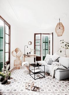 Here we showcase a a collection of perfectly minimal interior design examples for you to use as inspiration. Check out the previous post in the series: 37 Boho Room, Boho Living Room, Home And Living, Living Spaces, Simple Living, Interior Design Examples, Design Ideas, Bohemian Interior, Bohemian Decor