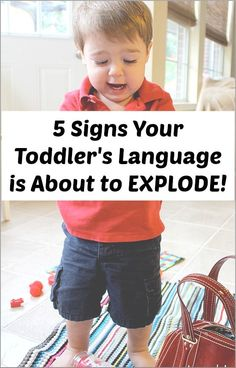 Are you concerned that your toddler isn't saying much? Here are five signs that your toddler's language is about to explode! Repinned by  SOS Inc. Resources http://pinterest.com/sostherapy.