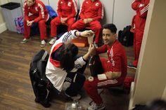 Qais Ashfaq getting wrapper for his WSB fight in London York Hall ....