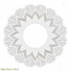 Patroon van de maand 2013 · februari - Kant met naald (en) de klos! Bobbin Lace Patterns, String Art Patterns, Lacemaking, Needle Lace, Cool Stuff, Paper, Crochet, How To Make, Bobbin Lace