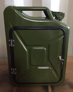 Upcycled Jerry Can Gin and Tonic Mini Bar, Picnic,Camping, Recycled, Green