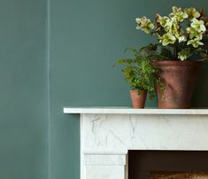 This deep green paint has haute couture tones of teal and grey, inspired by European runway collections. Browse our full range of luxury green paint online. Bedroom Paint Colors, Interior Paint Colors, Interior Walls, Paint Colours, Olive Green Paints, Landing Decor, British Paints, Little Greene Paint Company, Milan