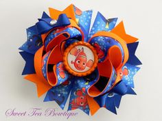 Hey, I found this really awesome Etsy listing at https://www.etsy.com/listing/181736928/finding-nemo-boutique-hair-bow-ott-over