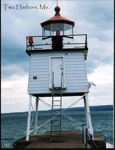 Two Harbors Breakwater Lighthouse - July 2003