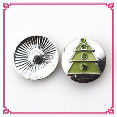 10pcs/lot Christmas tree Snap Buttons Diy 18 mm Snap Jewelry Pendants Bracelet&Bangles Snaps Necklace Charms #Affiliate