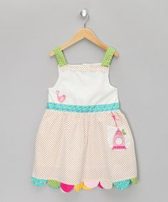 Take a look at this White Birdcage Dress - Infant, Toddler & Girls by Powell Craft on #zulily today!