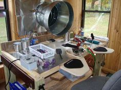 My Newbie Studio! - Lampwork Etc.