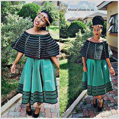 Traditional Xhosa attire with a twist! Xhosa Attire, African Attire, African Wear, African Women, African Style, African Traditional Dresses, Traditional Fashion, Traditional Outfits, Traditional Wedding
