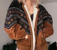 Winter Coats Women, Coats For Women, Jackets For Women, Vintage Sweatshirt, Boho Fashion, Fashion Outfits, Womens Fashion, Fashion Clothes, Latest Fashion